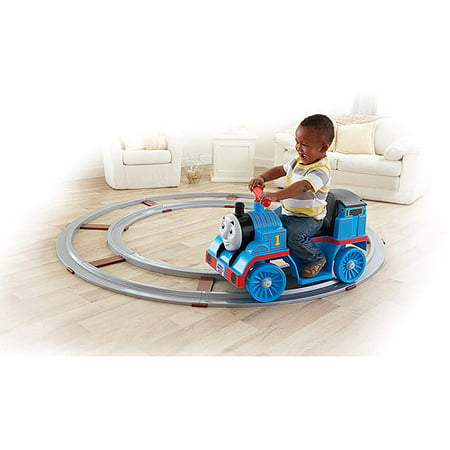 Fisher-Price Power Wheels Thomas the Train 6-Volt Battery-Powered Ride-On with 18 feet of Track