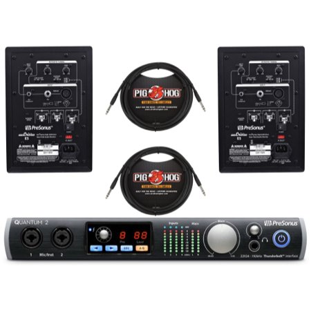 presonus quantum audio interface e5 studio monitor trs cables. Black Bedroom Furniture Sets. Home Design Ideas