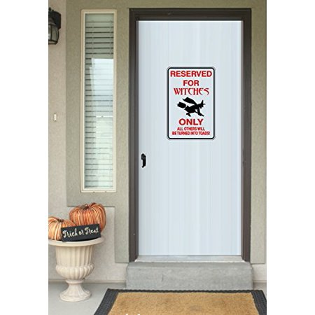 HALLOWEEN DECOR ~ RESERVED FOR WITCHES ONLY ~ HALLOWEEN SIGN: WALL OR WINDOW DECAL, 8