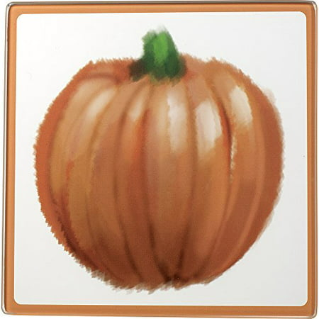 Celebrations by Precious Moments 171526 Thanksgiving Harvest Glass Cutting Board/Trivet 7-inches by 7-inches