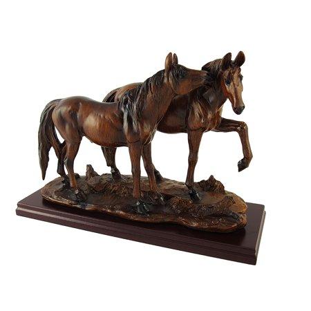 Wood Finish Wild Horses