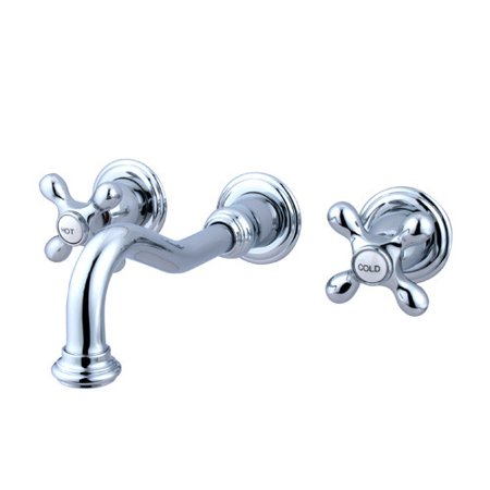 Elements of Design Vintage Wall Mounted Bathroom Faucet with Double ...