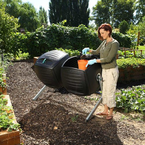 Lifetime Dual Compost Tumbler (100 Gallon), 60072