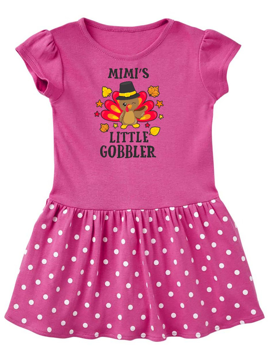 Mimis Little Gobbler with Turkey and Leaves Toddler Dress