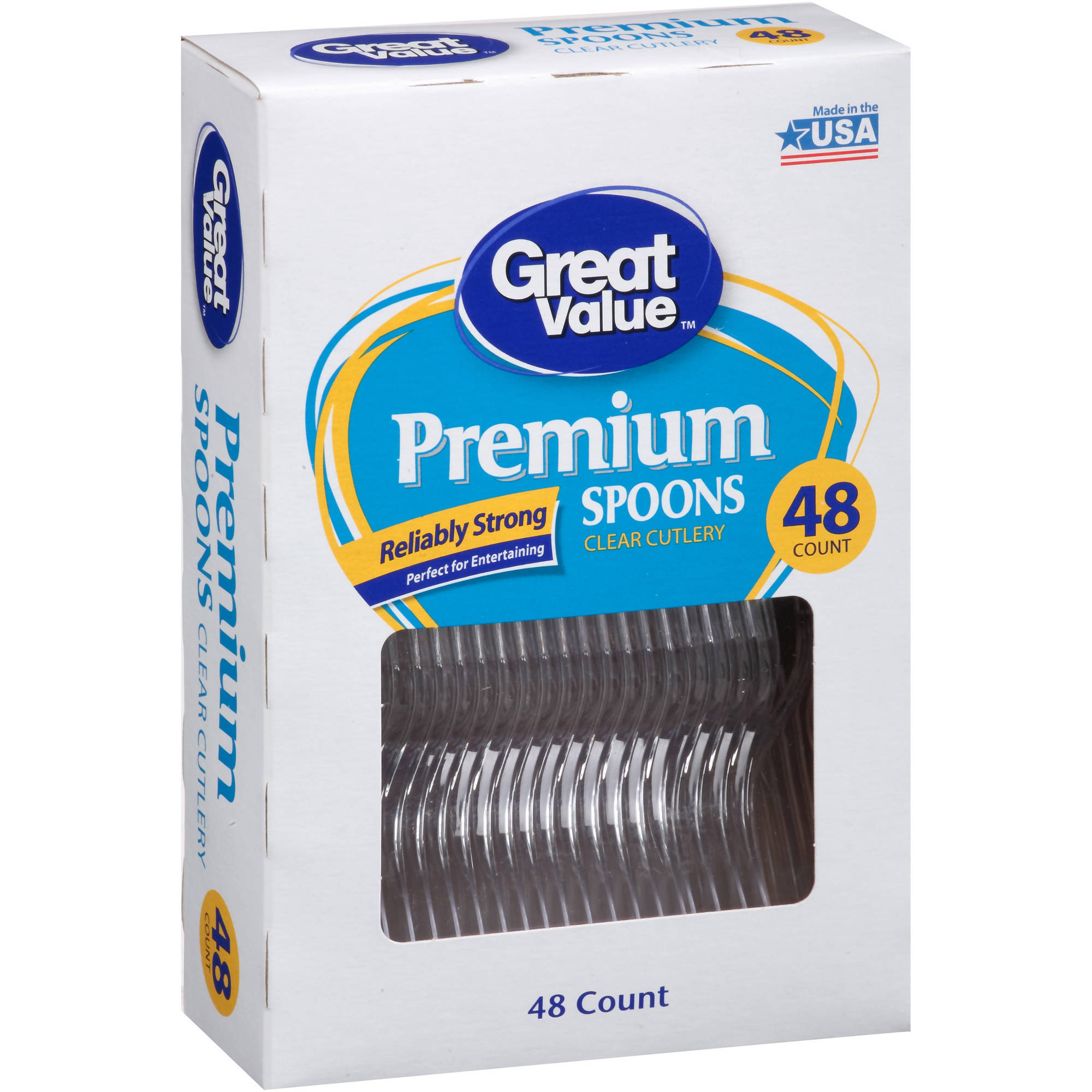 Great Value Premium Spoons, 48 ct