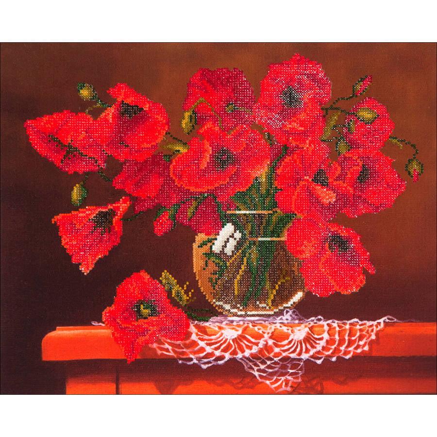 """Diamond Dotz Diamond Embroidery Facet Art Kit, 23"""" x 19"""", Red Poppies"""