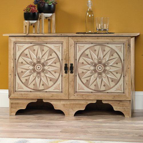 Sauder Viabella Storage Cabinet, Antigua Chestnut Finish