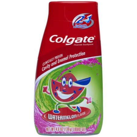 Colgate Enfants 2-en-1 Dentifrice et rince-bouche melon d'eau 4,60 oz (Pack de 2)