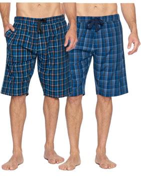Ashford & Brooks Mens Woven 2 Pack Sleep Shorts Jam
