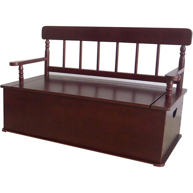 Levels of Discovery Simply Classic Cherry Finish Bench Seat w/ Storage