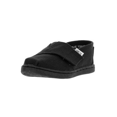 TOMs Unisex Alpargata Slip on Sneakers (Infant/Toddler/Big Kid), Black, 2 M US Infant](Infant Toms On Sale)