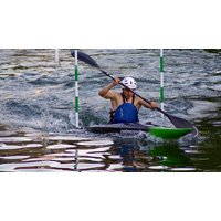 Canvas Print Young Kayak White Water Sporty Water Sports Man Stretched Canvas 10 x 14