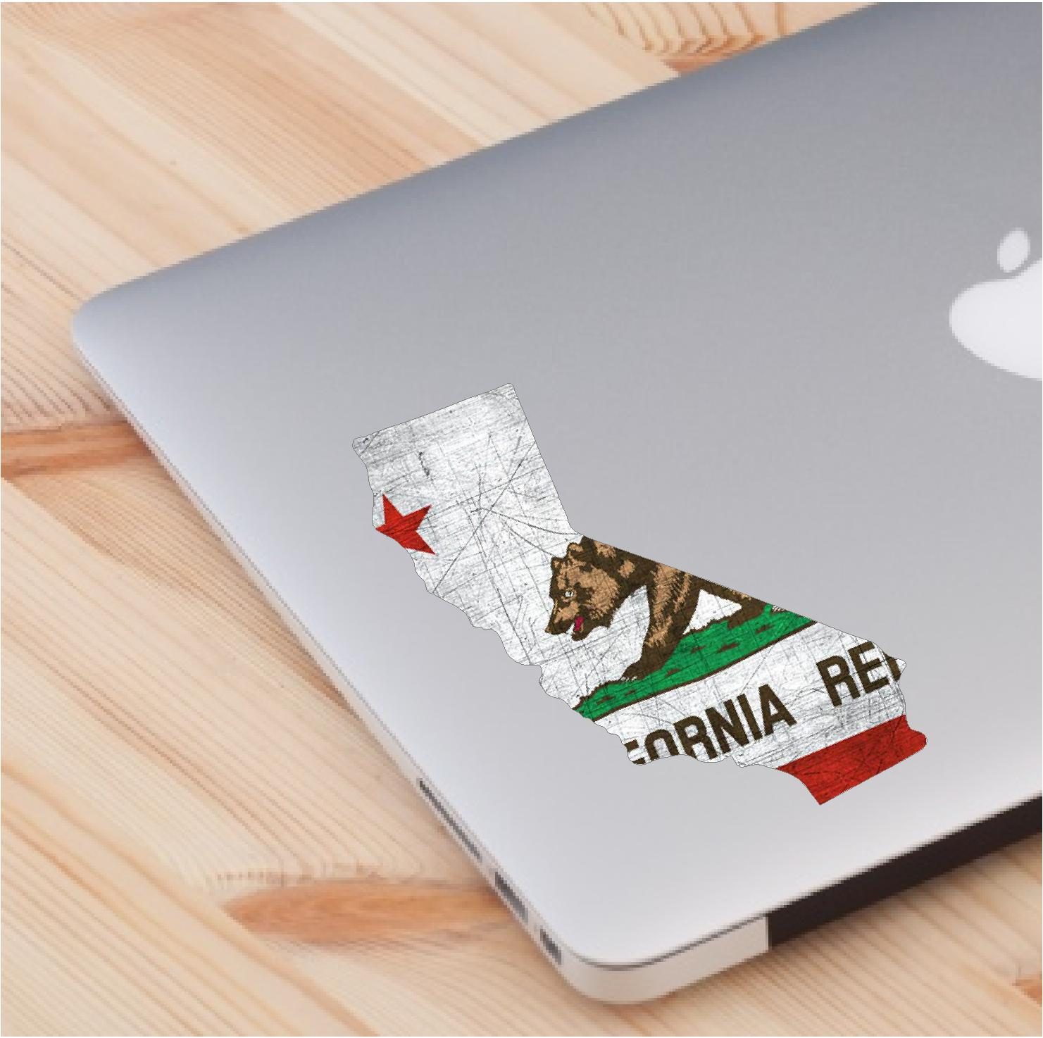 Laptop Sticker California State Flag theme skin decal sticker laptop décor accessories