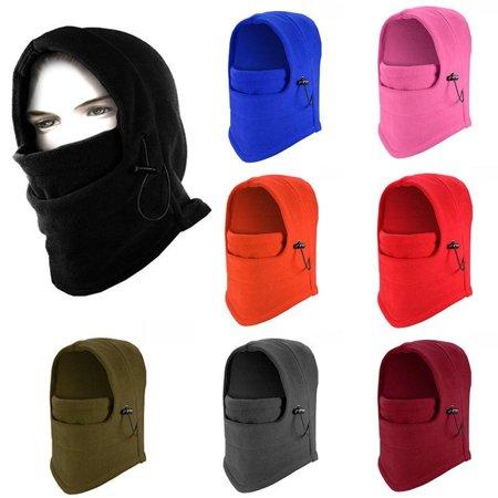 New 6 in 1 Thermal Fleece Balaclava Outdoor Ski Masks Bike Cycling Beanies Winter Mask Hats