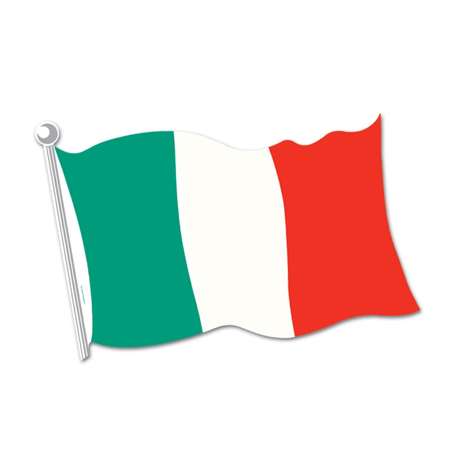 "Club Pack of 24 Red, White and Green Italian Flag Cutout Decorations 18"" by Party Central"