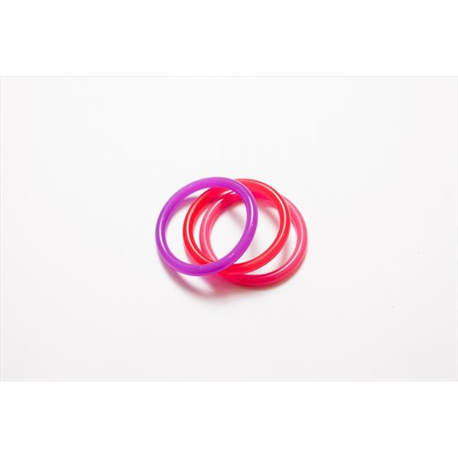 Dr.  Bloom IJTJ-05322 Pink-Red- Purple Infant-Juveniles Bracelet - Pack of 3