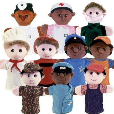 Get Ready Kids Set of 10 Community Helper Puppets