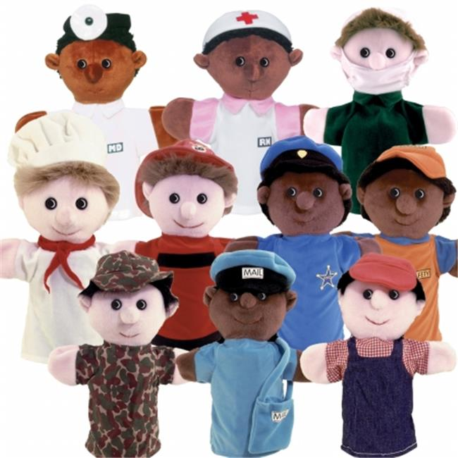 Get Ready 467 Kids Multicultural Community Helper Puppets, Set of 10