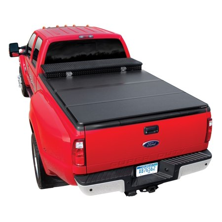 Extang 57485 Solid Fold Tool Box Tonneau Cover  Black  Aluminum  For Use W Existing Tool Box  Tool Box Not Included