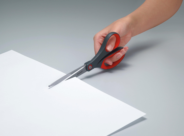 Scotch Precision Scissor Grey//Red 8-Inches Pack of 1