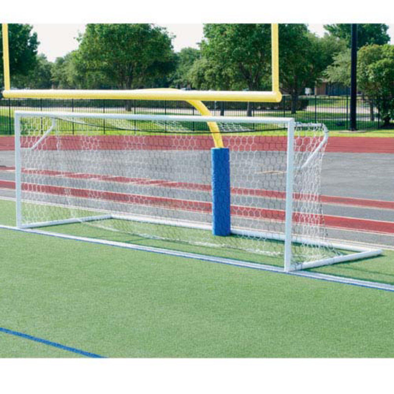 ALUMAGOAL Euro Stadium 4 in. Round Aluminum Soccer Goals - Pair - 24' x 8'