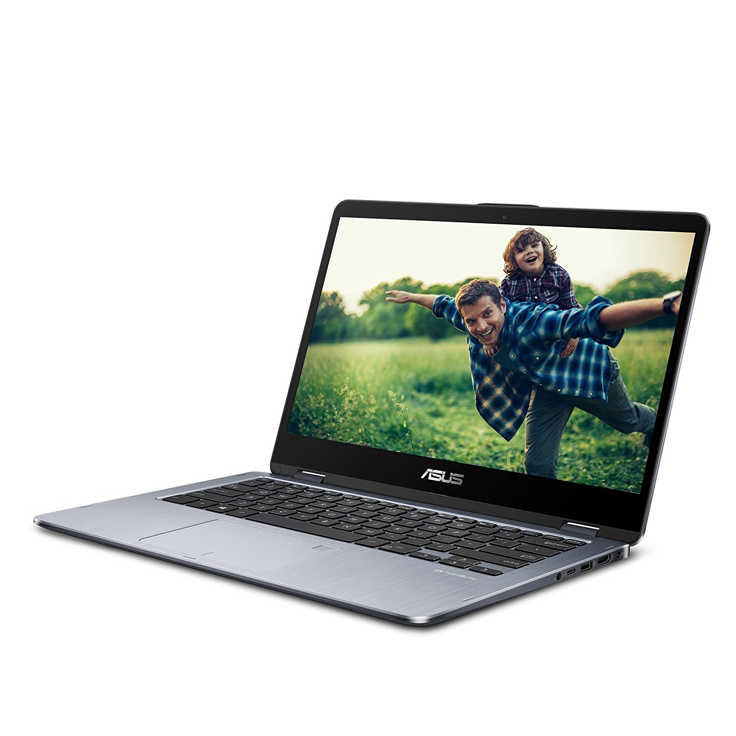 "Asus VivoBook Flip TP410UA-DB51T Core i5 7200U 6 GB 1 TB HDD 14"" Touchscreen 1920 x 1080 Convertible 2-in-1 Notebook"