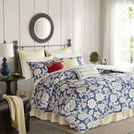 Home Essence Rose Cotton Twill Reversible Comforter Set