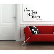 Everything Vinyl Decor Dream Big, Work Hard - J.J. Watt Vinyl Wall Art