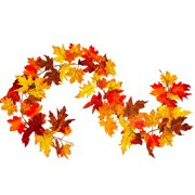 Artificial Autumn Fall Maple Leaves Garland Hanging for Home Garden Party Decor