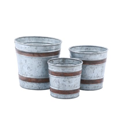Galvanized Pots - Set of 3 ()