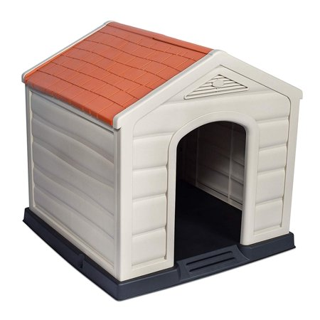 Internet's Best Outdoor Dog House | Medium or Large Dogs | Comfortable Cool Shelter | Durable Plastic Design | Home Kennel | Indoor or Outdoor Use |