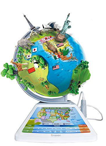Oregon Scientific SG268R Smart Globe Adventure AR Educational World Geography Kids Learning Toy by