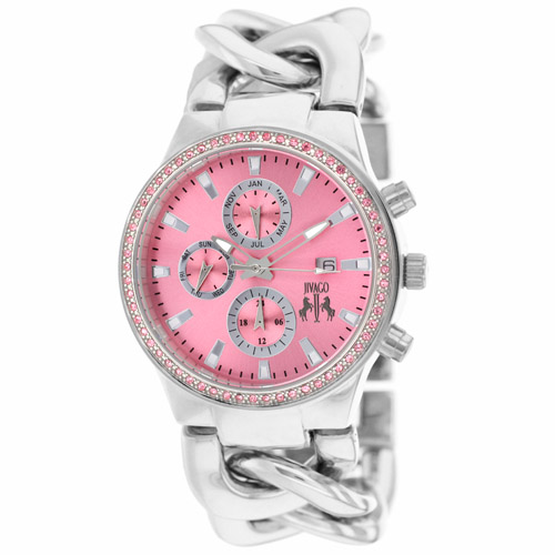 Jivago Women's Lev Watch Swiss Parts Quartz Mineral Cryst...