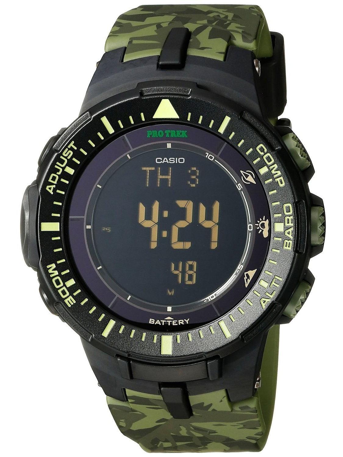 ProTrek Triple Sensor Watch Green by Casio