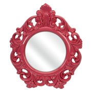 Finely Pink Baroque Wall Mirror - 23W x 28H in.