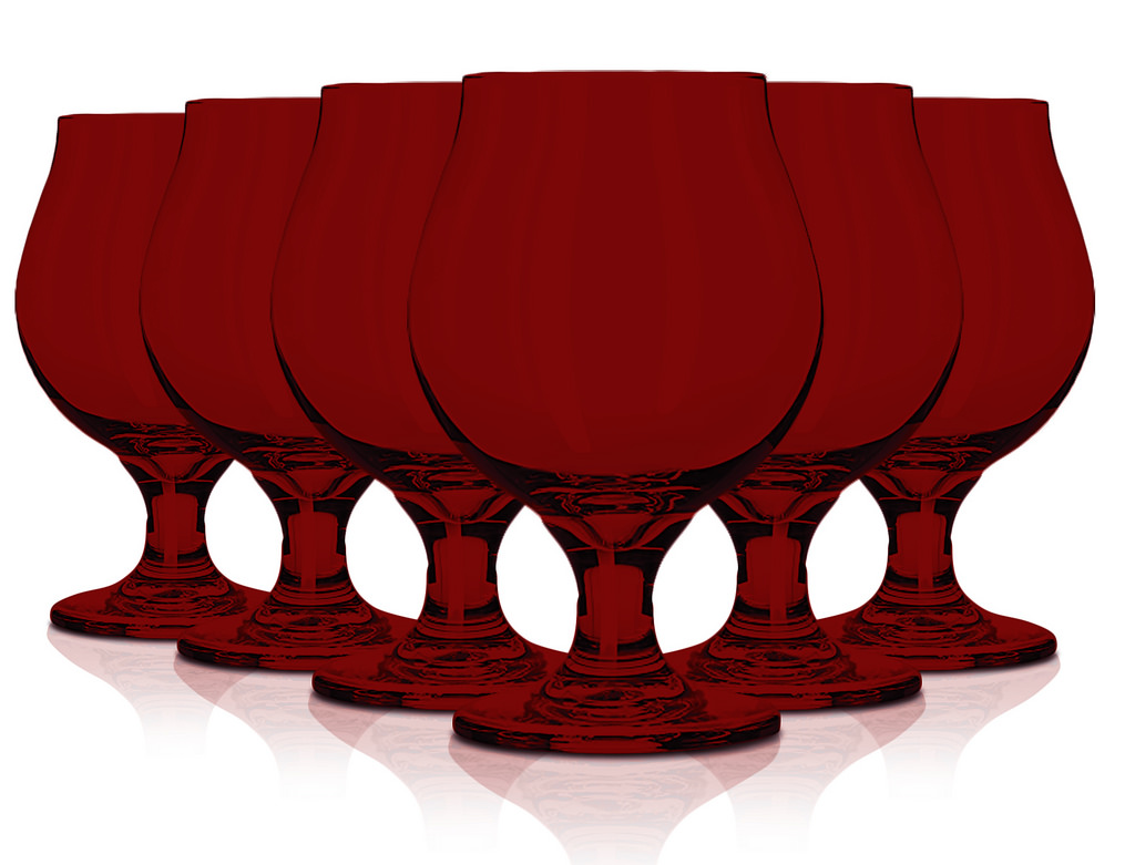 Libbey Glassware Belgian Beer Glass, 16 oz. set of 6 Red By tabletop king by TableTop King