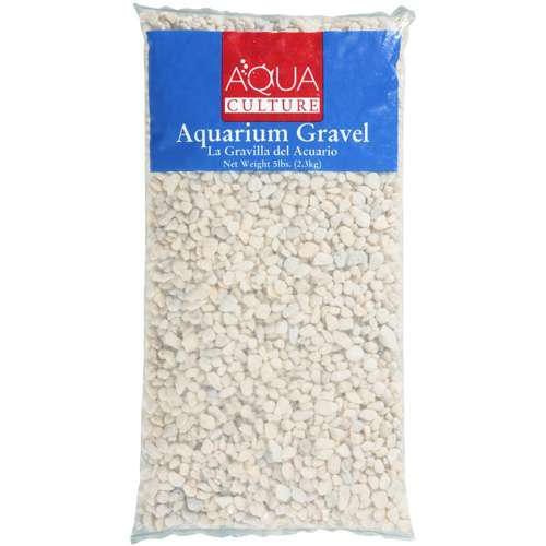 Aqua Culture Dove White Aquarium Gravel, 5 lb