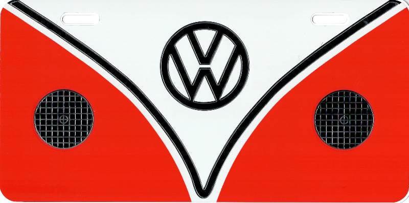 Volkswagen Classic Emblem Metal License Plate