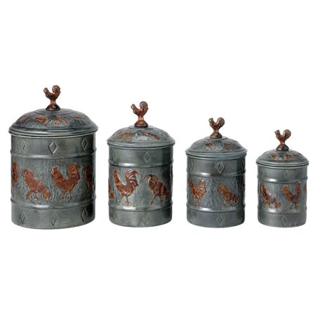 Country Themed Kitchen Canisters
