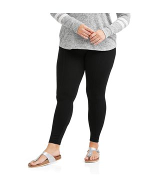 6b791626d472c Product Image Juniors' Plus Size Textured Fleece Lined Leggings With  Slimming Front Seam