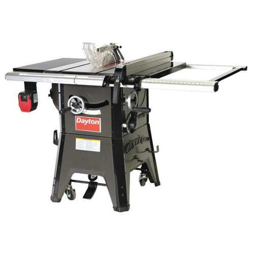 "Dayton Contractor Table Saw, 10"" Blade Dia., 4KXD1"