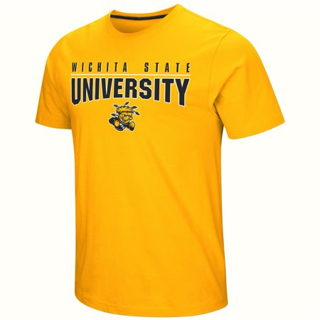 Wichita State Shockers Men's T Shirt Large Logo Graphic (Shockers T-shirt)