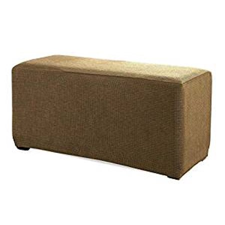 Wondrous Orlys Dream Spandex Pique Stretch Fit Rectangle Storage Ottoman Furniture Cover Slipcover Gold Uwap Interior Chair Design Uwaporg