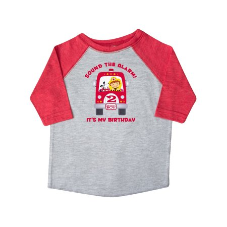 Fire Truck 2nd Birthday Boy Toddler T Shirt