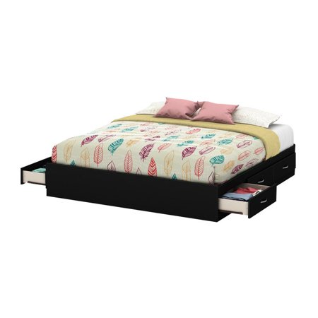 (South Shore SoHo King Platform Bed with 6 Drawers, Multiple Finishes)