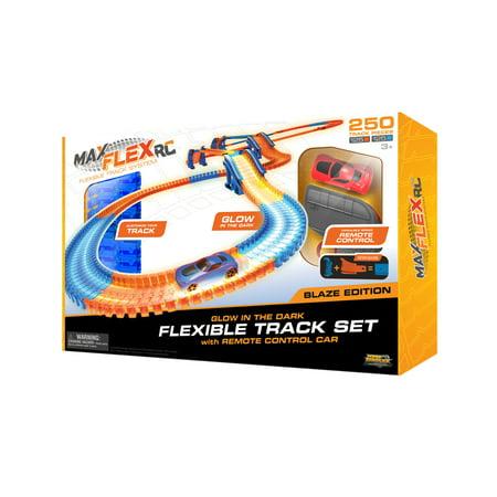 Max Flex RC 250 Blaze Edition Glow in the Dark Flexible Track Set by Max  Traxxx
