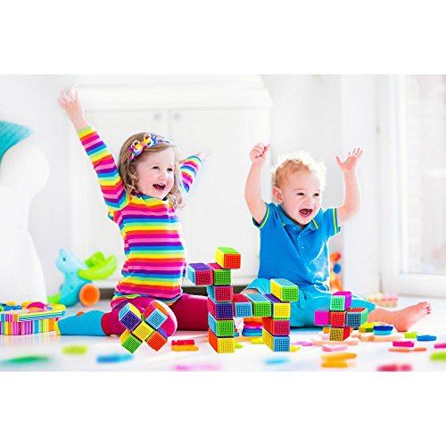 Educational Fun Great for Toddlers /& Children Toy Dimple DC5190 54Piece Interconnecting Stacking Blocks Building Set for Boys /& Girls
