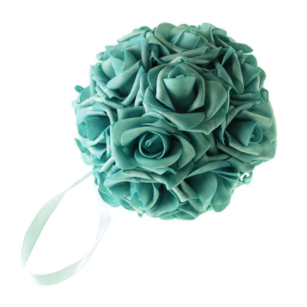 Soft Touch Flower Kissing Balls Wedding Centerpiece, 6-inch