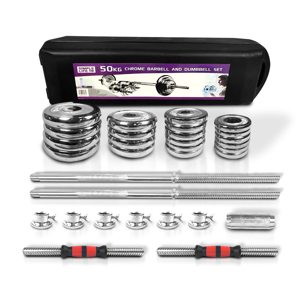 Details about  /110LB Weight Dumbbell Set Adjustable Fitness GYM Home Cast Iron Steel Plates US