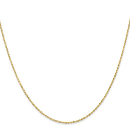 14k Yellow Gold 1.1mm Baby Rope Chain Necklace 24